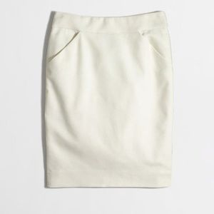 J. Crew 'The Pencil Skirt in double-serge cotton